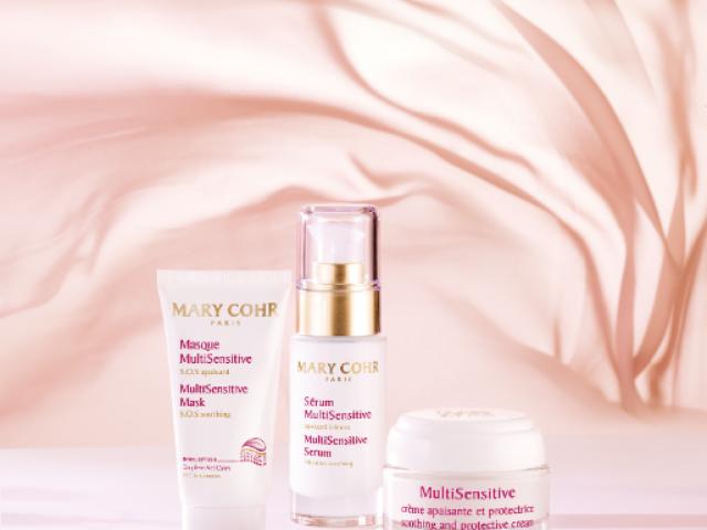 La gamme de produits de soin Douceur pour les visages les plus sensibles