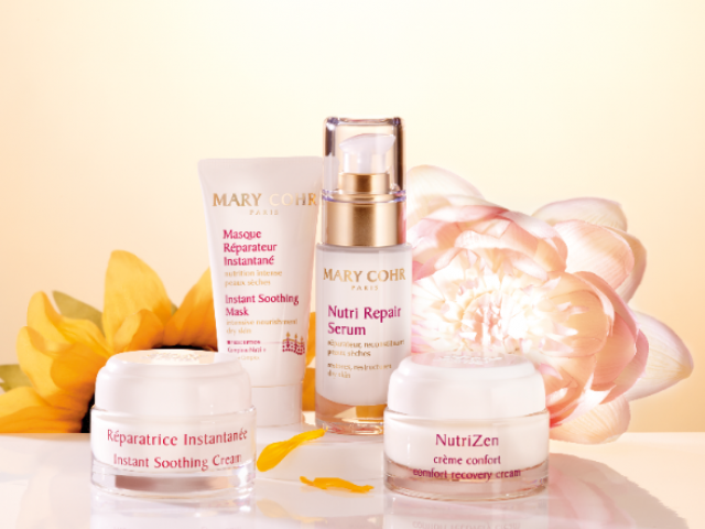 La gamme de produits de soins nutrition pour le visage