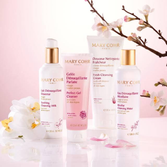 La gamme des produits démaquillants et nettoyants pour le visage