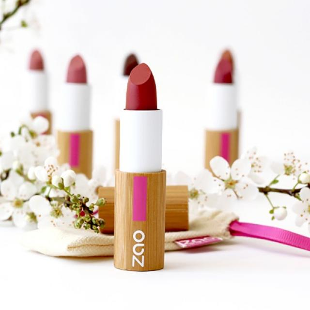 La gamme des produits de maquillage pour les lèvres Zao